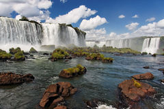 Iguassu Waterfalls Argentina Brazil Royalty Free Stock Photo