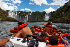 Iguassu Waterfalls Argentina Brazil Stock Photography