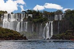Iguassu Waterfalls Argentina Brazil Stock Images