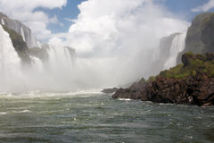 Iguassu Waterfalls Argentina Brazil royalty free stock image