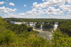 Iguassu waterfalls Argentina Brazil Stock Photo