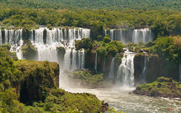 Iguassu waterfalls  Argentina Brazil Royalty Free Stock Images