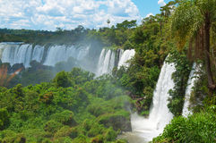 Iguassu waterfalls  Argentina Brazil Stock Photos