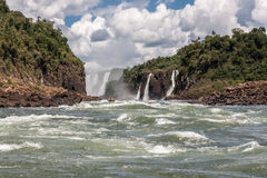 Iguassu Waterfalls Argentina Brazil Stock Images