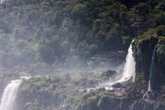 Iguassu Waterfalls Argentina Brazil Stock Photos