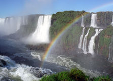 Iguasu falls. World famous waterfalls of Iguasu on borders of Argentina and Brazil Royalty Free Stock Photo