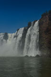 Iguasu Falls, Argentina Brazil. MW - Iguasu Falls seen from water level at the bottom of the falls Royalty Free Stock Photo
