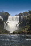 Iguasu Falls, Argentina Brazil. MW - Iguasu Falls seen from water level at the bottom of the falls Royalty Free Stock Images