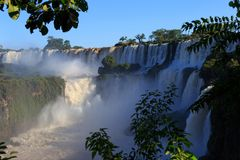 Iguasu waterfalls. Argentina.  5. A view on beautiful Iguasu waterfalls. Argentina. South America Royalty Free Stock Image