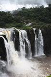 Iguasu waterfalls UNESCO world heritage. Tourist boat at Iguasu waterfalls UNESCO world heritage Royalty Free Stock Image