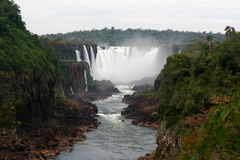 Iguazú Falls, between Argentina and Brazil Stock Photography