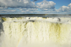 Iguazú falls. La garganta del diablo, the strongest fall in Iguazú Falls, Argentina Stock Photos