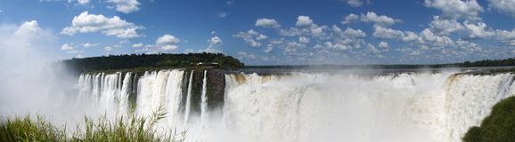 Iguazu, Iguazu Falls, waterfall, Garganta del Diablo, Devil's Throat, Argentina, South America. Iguazu, 13/11/2010: panoramic view of the spectacular Stock Photo