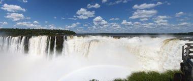 Iguazu, Iguazu Falls, waterfall, Garganta del Diablo, Devil`s Throat, Argentina, South America. Iguazu, 13/11/2010: panoramic view of the spectacular Garganta Stock Images