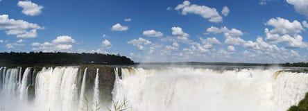 Iguazu, Iguazu Falls, waterfall, Garganta del Diablo, Devil's Throat, Argentina, South America. Iguazu, 13/11/2010: panoramic view of the spectacular Royalty Free Stock Image