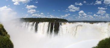 Iguazu, Iguazu Falls, waterfall, Garganta del Diablo, Devil's Throat, Argentina, South America. Iguazu, 13/11/2010: panoramic view of the spectacular Stock Images
