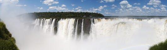 Iguazu, Iguazu Falls, waterfall, Garganta del Diablo, Devil's Throat, Argentina, South America. Iguazu, 13/11/2010: panoramic view of the spectacular Royalty Free Stock Photos
