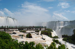 Iguazu, Iguazu Falls, waterfall, Garganta del Diablo, Devil`s Throat, Argentina, South America royalty free stock images