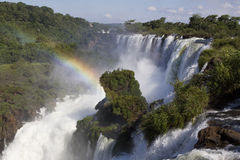 Iguazu Falls. On the Border of Argentina & Brazil Stock Photos