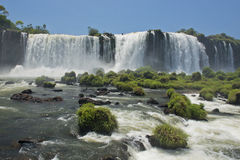 Iguazu falls. Part of the iguazu falls, seen from the brazilian side, one of the world's seven natural wonders Stock Photography
