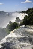 Iguazu Falls. View from the Argentinian side of the infamous Iguazu Falls stock image