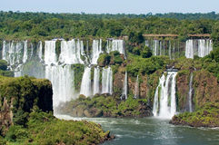 Iguazu Falls. Is one of the most visited places in Argentina and Brazil stock images