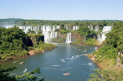 Iguazu Falls. Is one of the most visited places in Argentina and Brazil royalty free stock image