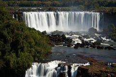 Iguazu Falls. Located on the border of Brazil and Argentina Royalty Free Stock Image