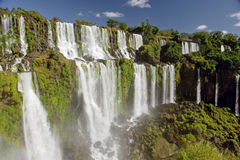 Iguazu Falls. Closeup of the Argeninean side of the Iguzau Falls stock photos
