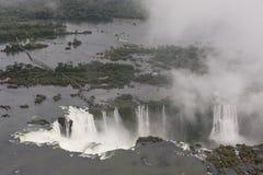 Iguazu Falls. Aerial view of the Iguazu Falls Royalty Free Stock Image