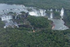 Iguazu Falls. Aerial view of the Iguazu Falls Stock Photography
