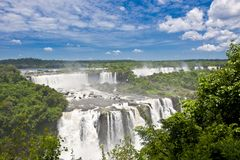 Iguazu Falls, waterfall and rainforest stock images