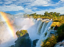 Iguazu falls, Argentina. Iguazu falls, one of the new seven wonders of nature. UNESCO World Heritage site. View from the argentinian side