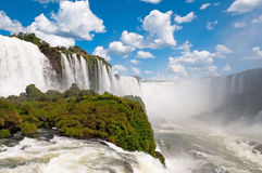 Iguazu Falls Argentina. Close view point looking up at Iguazu Falls Argentina Stock Photos