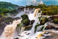 Iguazu Falls in Argentina. An amazing shot of Iguazu Falls on the from Argentina royalty free stock images
