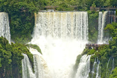 Free Iguazu Falls, Argentina, Curtains Of Water Coming Down. Royalty Free Stock Images - 27671239