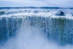 Iguazu falls in Argentina. Falling water and steam of large Iguazu falls in Argentina Stock Photography