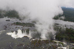 Iguazu Falls. Arial view of the Iguazu Falls Stock Photos