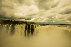 Iguazu Falls. As seen from Argentina side Stock Image