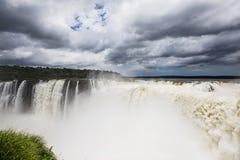 Iguazu Falls. As seen from Argentina side Stock Photos