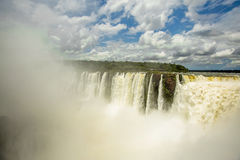 Iguazu Falls. As seen from Argentina side Stock Photo