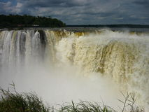Iguazu falls. Beautifoul argentina and brasil falls Royalty Free Stock Photo