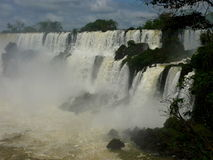 Iguazu falls. Beautifoul argentina and brasil falls Royalty Free Stock Images