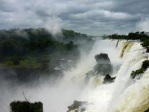 Iguazu falls. Beautifoul argentina and brasil falls Stock Images