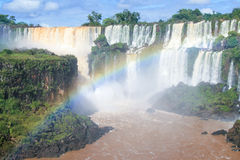 Iguazu falls. On the border of Argentina and Brazil Stock Photo