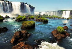 Iguazu falls. On the border of argentina and brazil Stock Photos