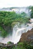 Iguazu falls on the border of Argentina and Brazil Stock Photos
