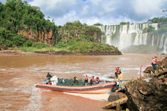 Iguazu falls on the border of Argentina and Brazil Royalty Free Stock Photography