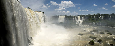 Iguazu Falls at the border between Argentina, Brazil and Paragua Royalty Free Stock Photos