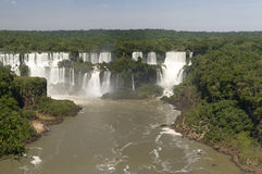 Iguazu Falls at the border between Argentina, Brazil and Paragua Stock Photography